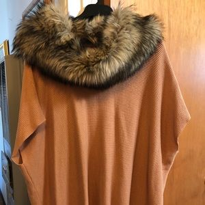 Michael Kors sweater/fur cowl neck.  Large.